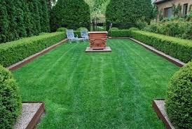 yew hedges arborvitae sunken grass outdoor landscaping