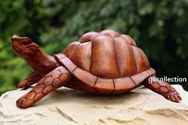 tortoise home decor 12 large wooden tortoise turtle statue hand carved sculpture wood