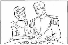 prince princess cinderella coloring cinderella