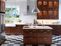 marvelous dark brown polished cool ikea kitchen cabinets with
