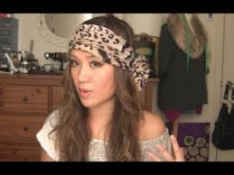 how to tie a easy boho head scarf tutorial youtube