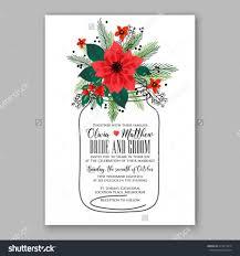 Christmas Card Invitation Wording Poinsettia Wedding Invitation Sample Card Beautiful Winter Floral