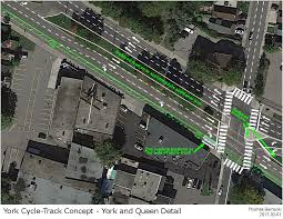 proposed design for york boulevard cycle track raise the hammer