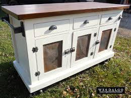 white kitchen cart island wes dalgo home wes dalgo