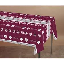 maroon plastic table covers college sports tableware sports theme party supplies at