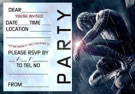 free spiderman party invitation template invitations