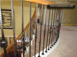 Replacing Banister Spindles Replacing Wood With Wrought Iron Stair Spindles Home Depot