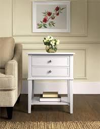 White Accent Table Ameriwood Furniture Franklin Accent Table With 2 Drawers White