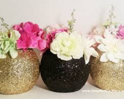 Gold Centerpiece Vases Listing Includes 3 Glitter Vases Available In Two Sizes