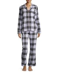ugg cotton plaid pajama set