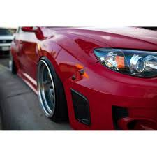 red subaru forester slammed move over racing quick release bumper kit 2011 2014 wrx 2008 2014