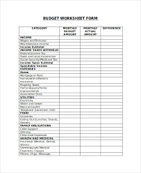 sample budget form 8 examples in pdf word