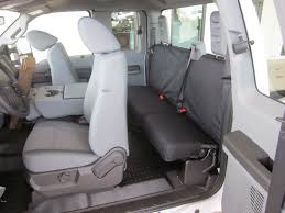2011 2013 ford f250 super cab front and rear seat set front 40 20