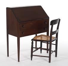 Drop Lid Secretary Desk by A Ladies U0027 Slant Front Writing Desk With Chair Ca 1900 U0027s 12 11