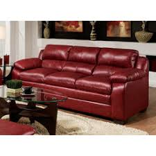 Soho Leather Sofa Simmons Upholstery Sofa In Soho Cardinal Bonded Leather