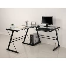 3 piece glass desk the modern rules of l shaped glass
