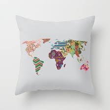 World Map Pillow World Map Decorative Throw Pillow Case Cute