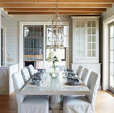 white wash dining room table whitewashed dining table with slipcovered chairs cottage dining room