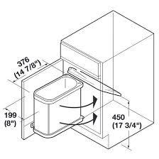 Kitchen Cabinet Waste Bins by Hafele Swing Out Waste Bin For Vanity Or Kitchen Cabinet 18
