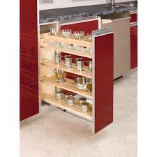 Kitchen Cabinet Storage Organizers Rev A Shelf 25 48 In H X 5 In W X 22 47 In D Pull Out Wood Base