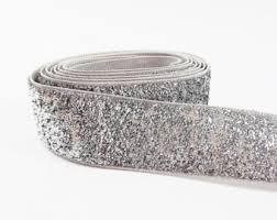 silver glitter ribbon 4 in wide ultrawide black and silver glitter webbing 4 inch