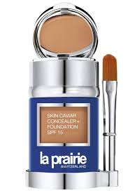 i m not a foundation person but i keep la prairie s bination foundation and concealer mirror on my desk for pre party touchups