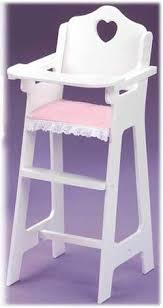 Badger Basket Armoire Badger Basket White Doll High Chair With Plate Bib And Spoon
