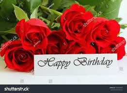 happy birthday card red roses stock photo 149665997 shutterstock