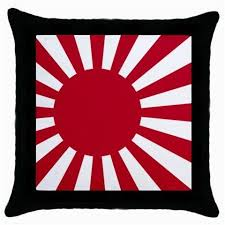 rising sun flag cushion cover japanese black throw pillow