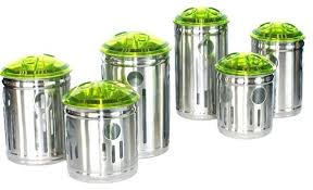 green kitchen canisters contemporary kitchen canisters zhis me