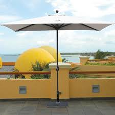 Rectangular Patio Umbrella Sunbrella by Galtech 3 5 X 7 Ft Rectangular Aluminum Patio Market Umbrella W