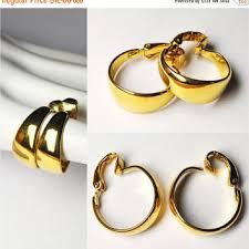 hoop clip on earrings best crown trifari clip earrings products on wanelo