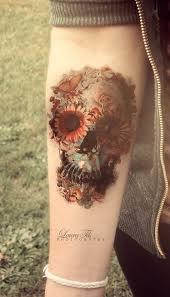 50 eye catching wrist ideas flower skull wrist