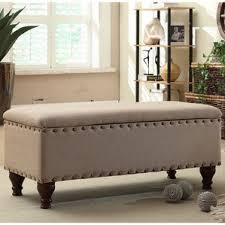 livingroom bench storage ottomans you ll wayfair