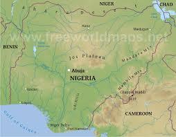 nigeria physical map nigeria physical map