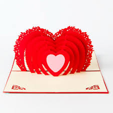 heart shaped writing paper compare prices on kirigami hearts online shopping buy low price 3d pop up laser cut greeting post cards for valentine s day vintage kirigami origami with envelope