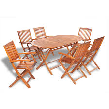 vidaxl seven piece outdoor dining set acacia wood vidaxl com