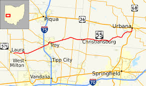 Ohio County Map With Roads by Ohio State Route 55 Wikipedia
