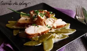 cuisine filet de poulet filet de poulet à l époisses et pois gourmands