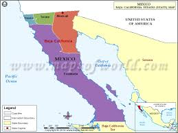 map of mexico and california baja california map baja california mexico