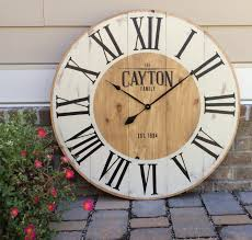 farmhouse clock large wall clock custom wall clocks