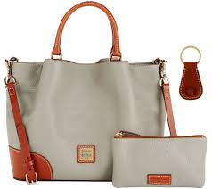 dooney u0026 bourke pebble leather brenna satchel with accessories