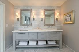 bathroom ideas antique gray bathroom vanity under two framed