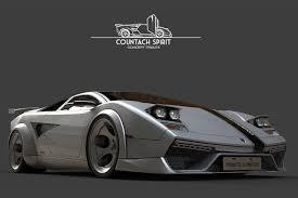 classic lamborghini lamborghini countach spirit concept car countach spirit concept 6