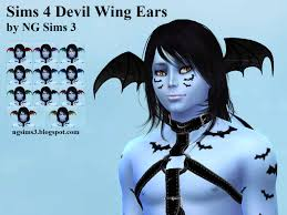 ng sims 3 sims 4 devil wing ears ts4 accessories