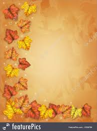 illustration of autumn fall leaves border thanksgiving
