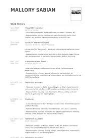 Merchandiser Duties Resume Visual Merchandiser Resume Samples Visualcv Resume Samples Database