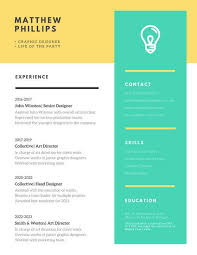 Cool Resume Templates For Mac Yellow And Green Modern Creative Resume Templates By Canva