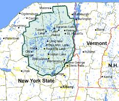 map new york state adirondack region map the adirondacks ny state are the largest