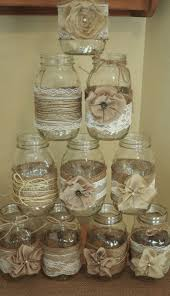 centerpiece from our wedding navy blue mason jars filled with